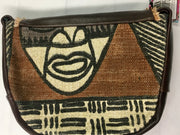 Mudcloth and Leather Purse