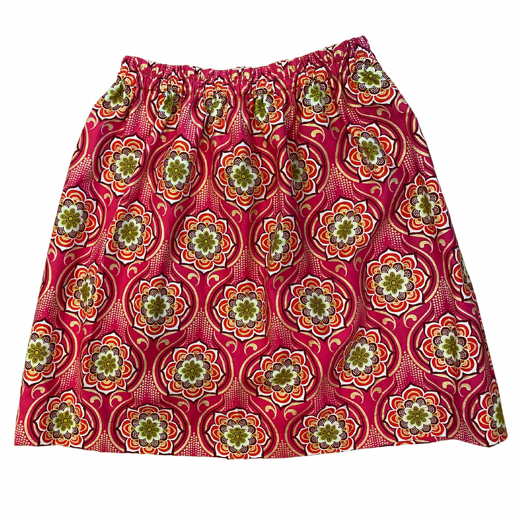 Girl's Skirt - Pink Medallion