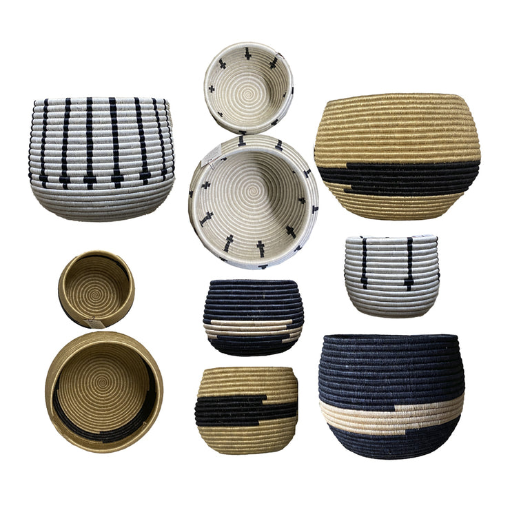Rwandan Pot Basket Collection