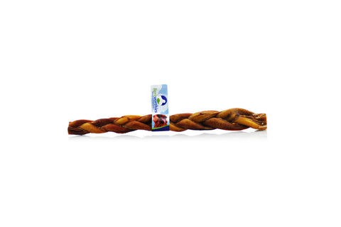 Barkworthies Braided Bully Stick - 12 inches in length