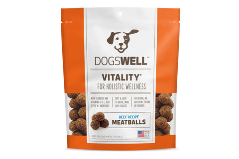 Vitality Beef Recipe Meatballs Dog Treats