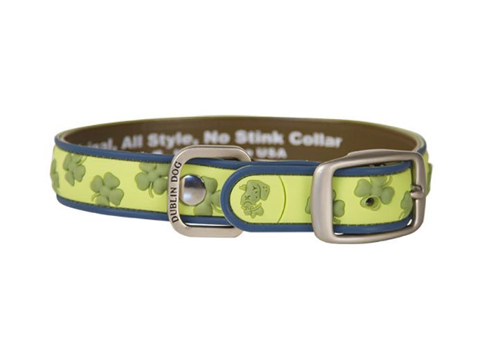 Green Shamrock Lots O' Luck Collar