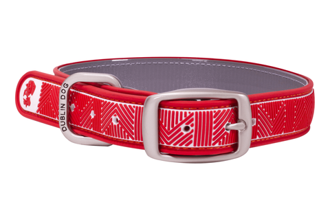 Nautical Red Chevron Collar