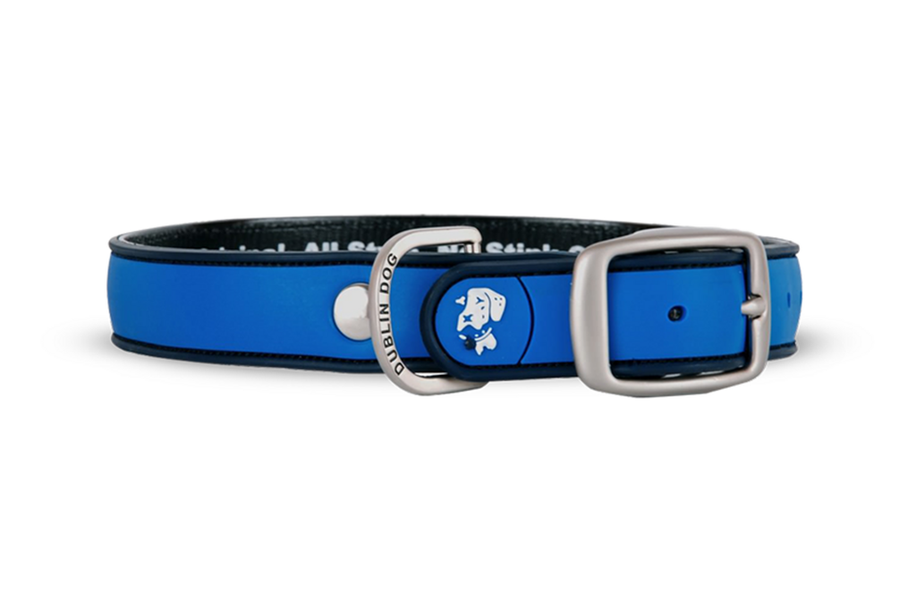 Simply Solid Blue Ribbon Collar