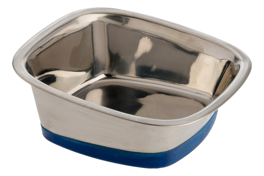 premium slanted square stainless steel bowl - Dog Bowls