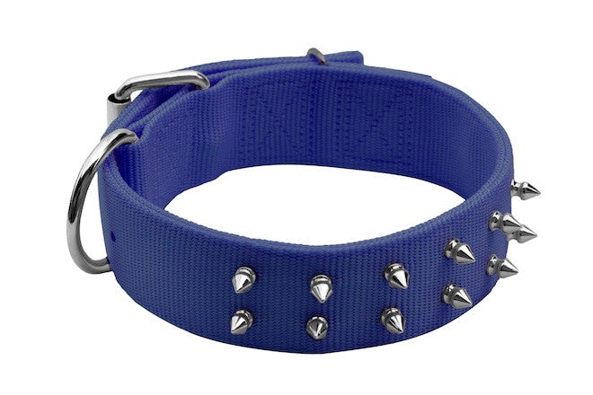 Macho Dog Spike Double-Ply Collar