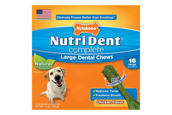 Nutri Dent Complete Chicken Dental Chew Large