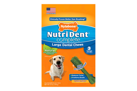 Nutri Dent Complete Chicken Dental Chew - Large