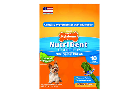 Nutri Dent Complete Chicken Dental Chew - Mini