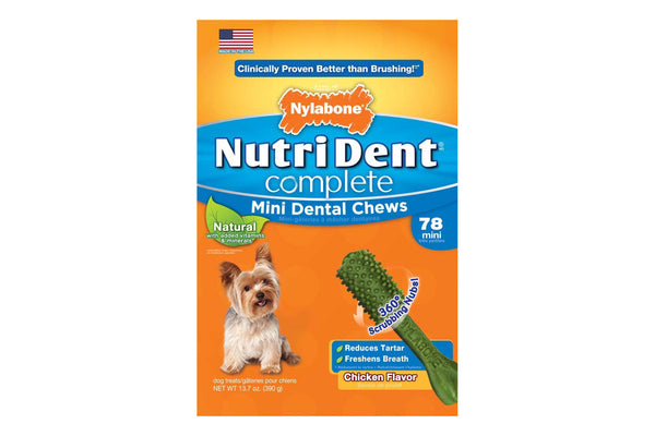 Nutri Dent Complete Chicken Dental Chew Mini