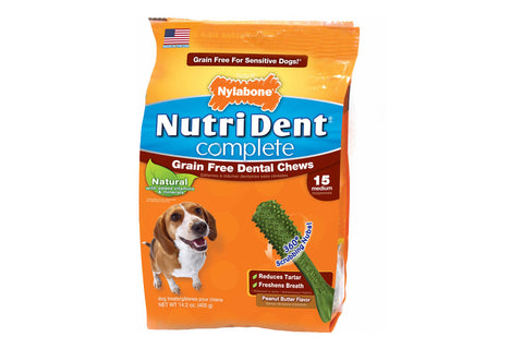 Nutri Dent Complete Grain Free Peanut Butter Dental Chew - Medium