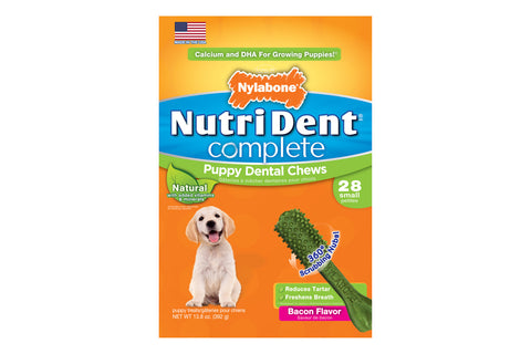 Nutri Dent Complete Puppy Bacon Dental Chew - Small