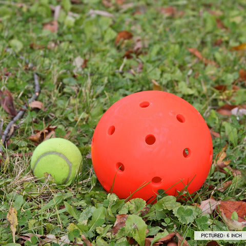 "Unbreakoball 6"" compared to a tennis ball"