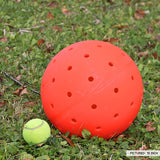 "Unbreakoball 10"" compared to a tennis ball"