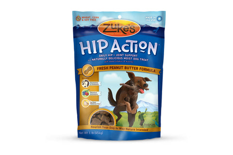 Zuke's hip action fresh peanut butter dog treats