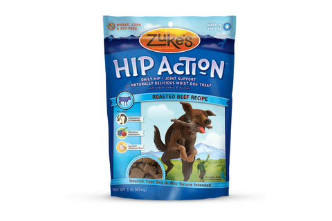 Zuke's Hip Action Roasted Beef Recipe Dog Treats