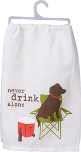 Dish Towel - Never Drink Alone