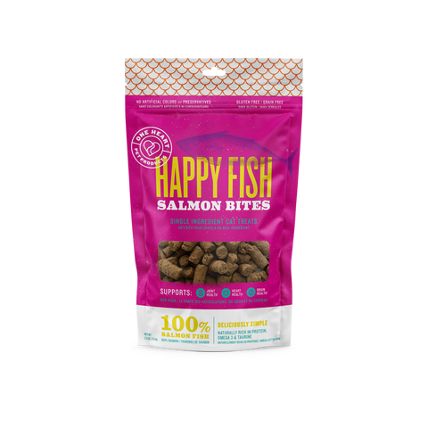 Happy Fish Bites Cat Treat