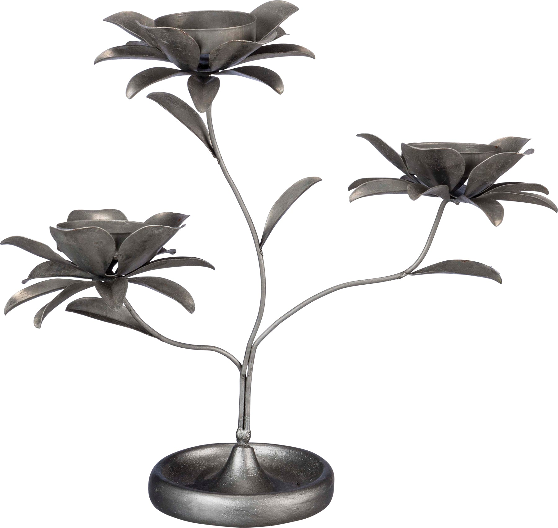 Triple Flower T-Light Holder