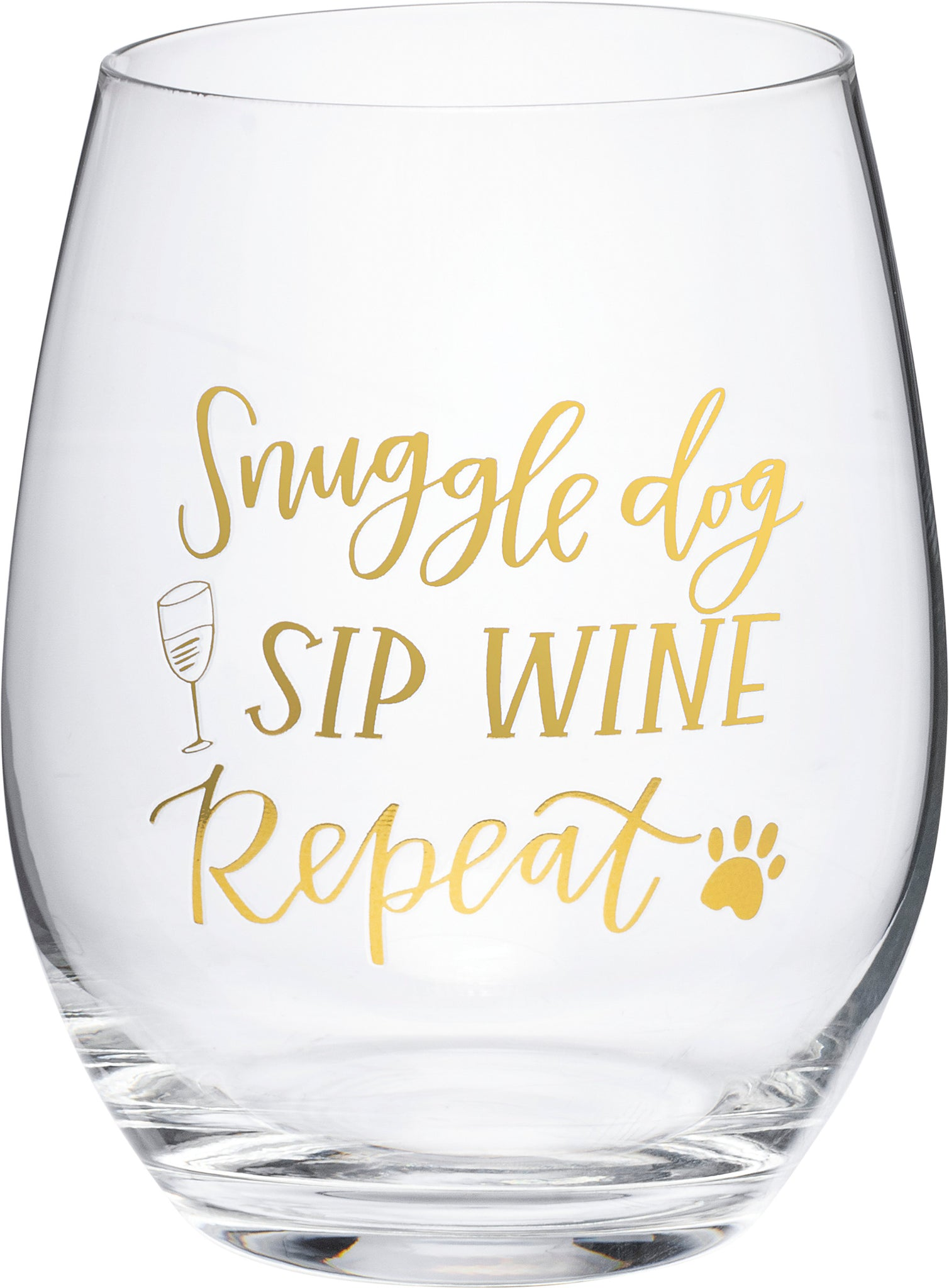 Wine Glass - Snuggle Dog