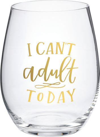 Wine Glass - Can't Adult