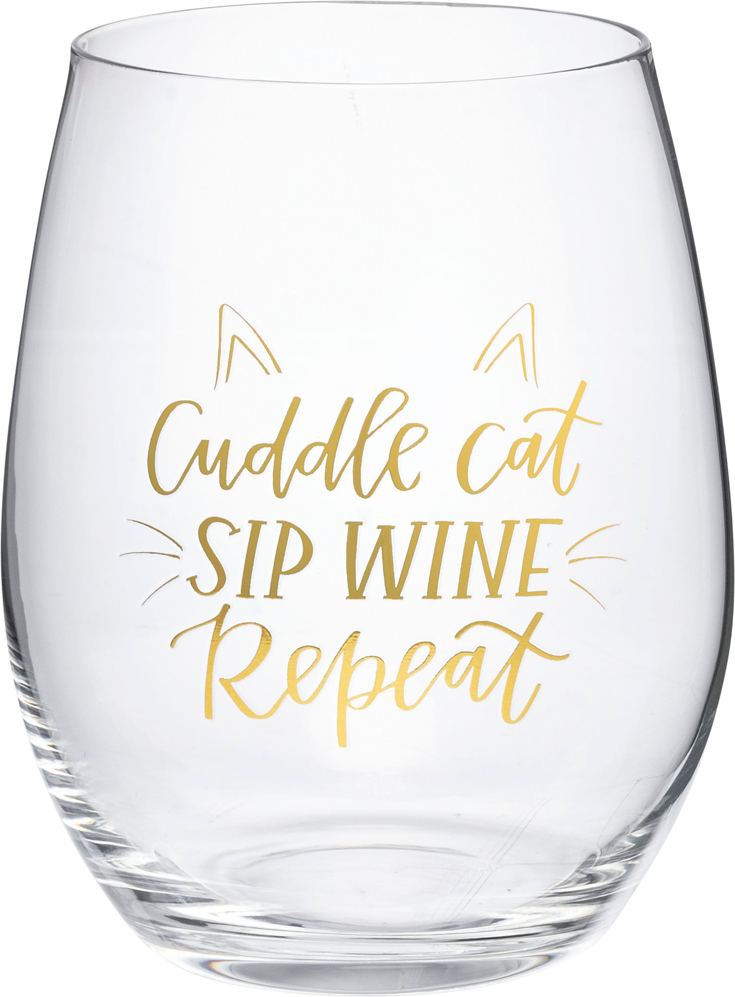 Wine Glass - Cuddle Cat