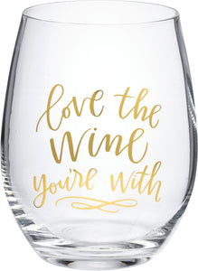 Stemless Wine Glass - Love The Wine