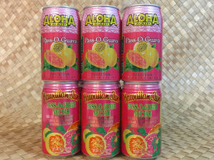 Aloha Maid and Hawaiian Sun Pass O Guava (POG) Combination