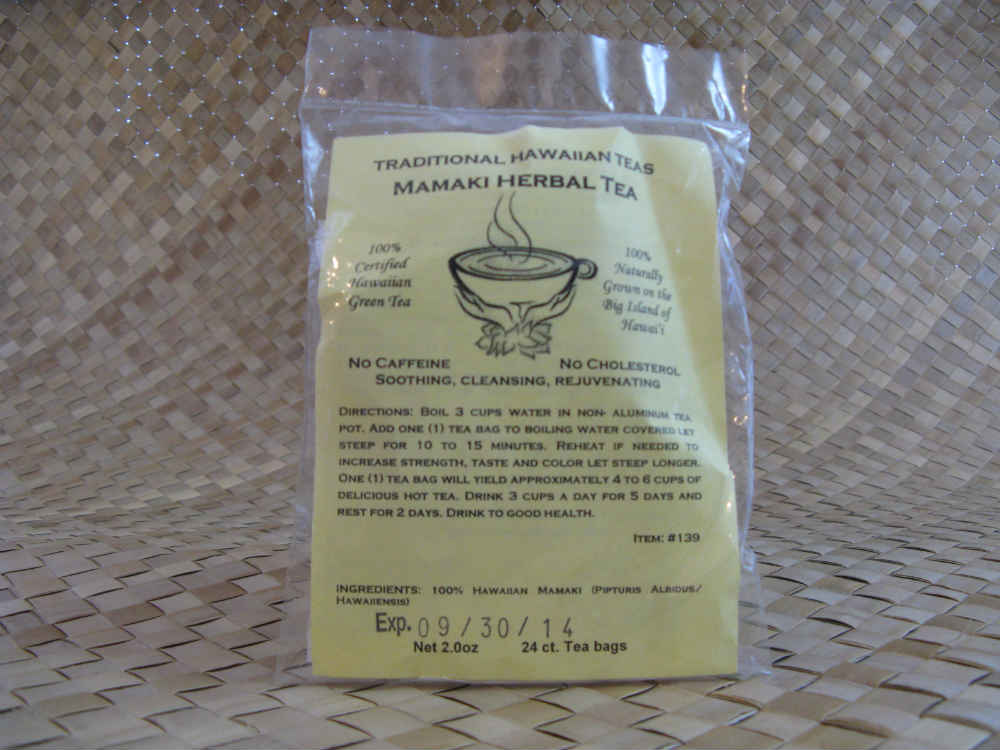 Traditional Hawaiian Herbal Teas - 24 Mamaki Tea Bags (4x to Canada)