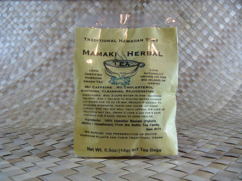 Traditional Hawaiian Herbal Teas- 6 Mamaki Tea Bags