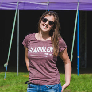 T-shirt Vrouwen Heather Cranberry
