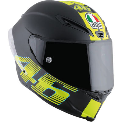 AGV Corsa R V46 Motorcycle Helmet Black/Yellow