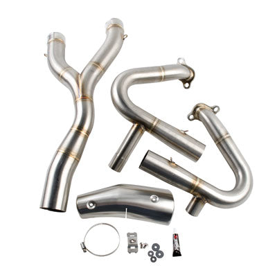 Akrapovic Stainless Steel Headpipes (No CA) – Fits: BMW R1200GS Adventure 2014–2015