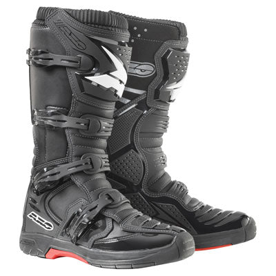 AXO MX One Boots Black - CLOSEOUT