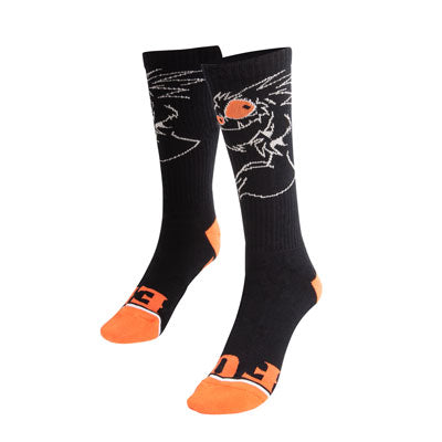 BB4 Chupacabra Crew Socks Black/Orange