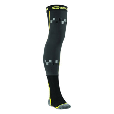 EVS Fusion Knee Brace Socks Black/Hi-Vis Yellow