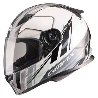GMax FF49 Rogue Motorcycle Helmet White/Black