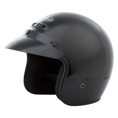 GMax GM2 Open Face Motorcycle Helmet Black