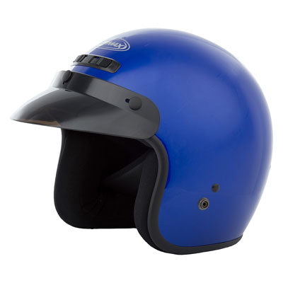 GMax GM2 Open Face Motorcycle Helmet Blue
