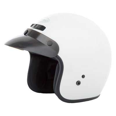 GMax GM2 Open Face Motorcycle Helmet White