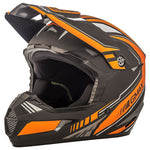 GMax Youth MX46 Uncle Helmet Flat Black/Orange
