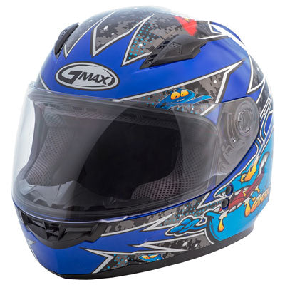 GMax Youth GM49Y Alien Helmet Black/Blue