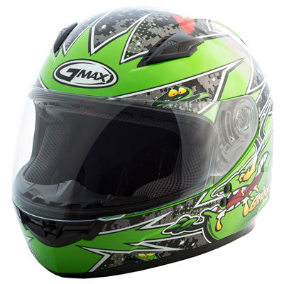 GMax Youth GM49Y Alien Helmet Black/Green