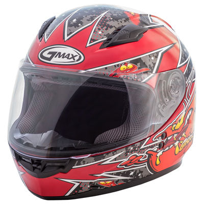 GMax Youth GM49Y Alien Helmet Black/Red