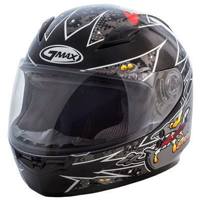 GMax Youth GM49Y Alien Helmet Black/Silver