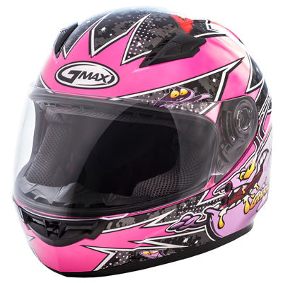 GMax Youth GM49Y Alien Helmet Pink/Purple