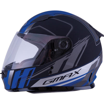 GMax Youth GM49Y Rogue Helmet Flat Black/Blue