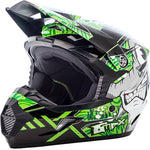 GMax Youth MX46 Hooper Helmet Large Black/Green