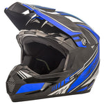 GMax Youth MX46 Uncle Helmet Flat Black/Blue