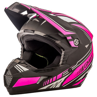 GMax Youth MX46 Uncle Helmet Flat Black/Pink
